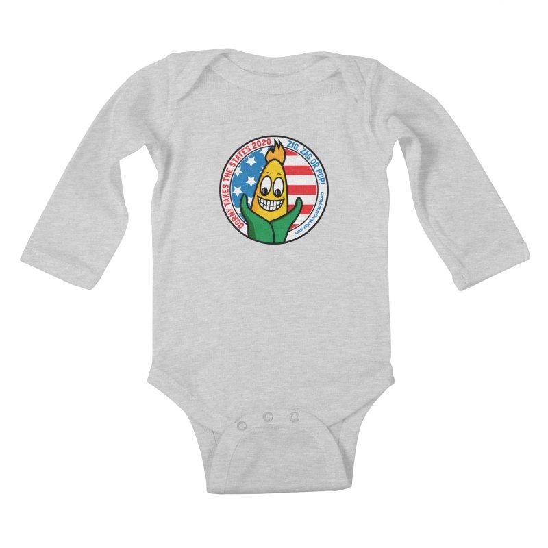 Corny Takes the States 2020 - Circle Kids Baby Longsleeve Bodysuit by TwistyMini Motoring Shirts