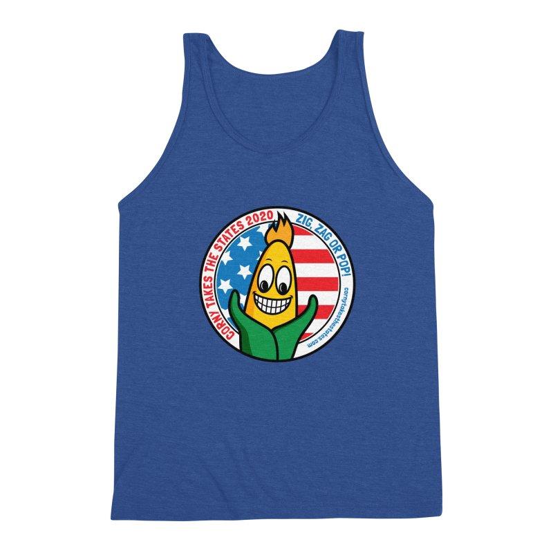 Corny Takes the States 2020 - Circle Men's Triblend Tank by TwistyMini Motoring Shirts