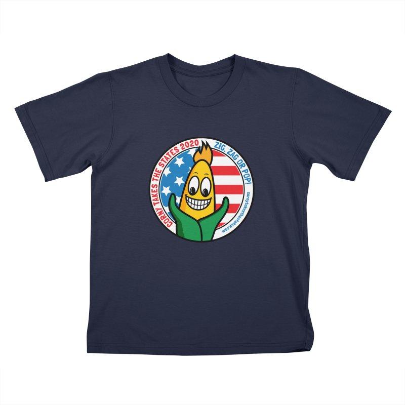 Corny Takes the States 2020 - Circle Kids T-Shirt by TwistyMini Motoring Shirts