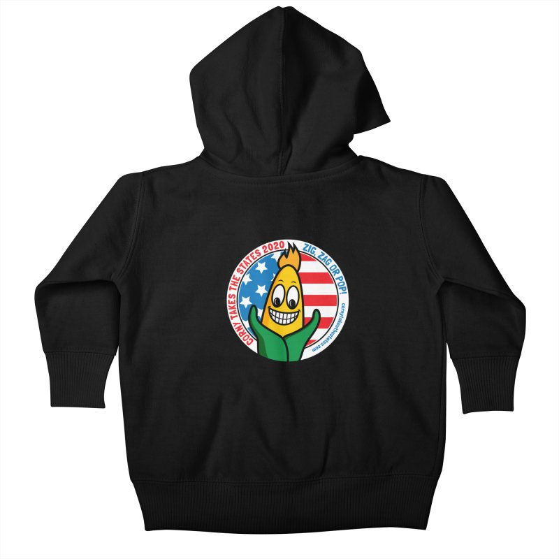 Corny Takes the States 2020 - Circle Kids Baby Zip-Up Hoody by TwistyMini Motoring Shirts