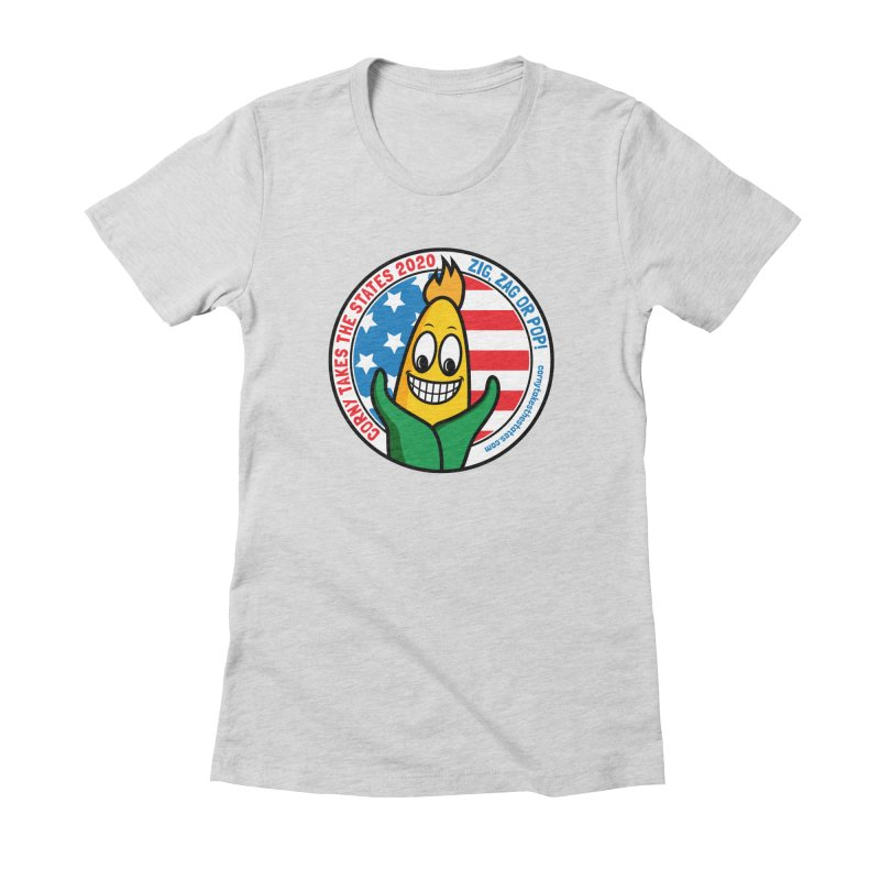 Corny Takes the States 2020 - Circle Women's Fitted T-Shirt by TwistyMini Motoring Shirts