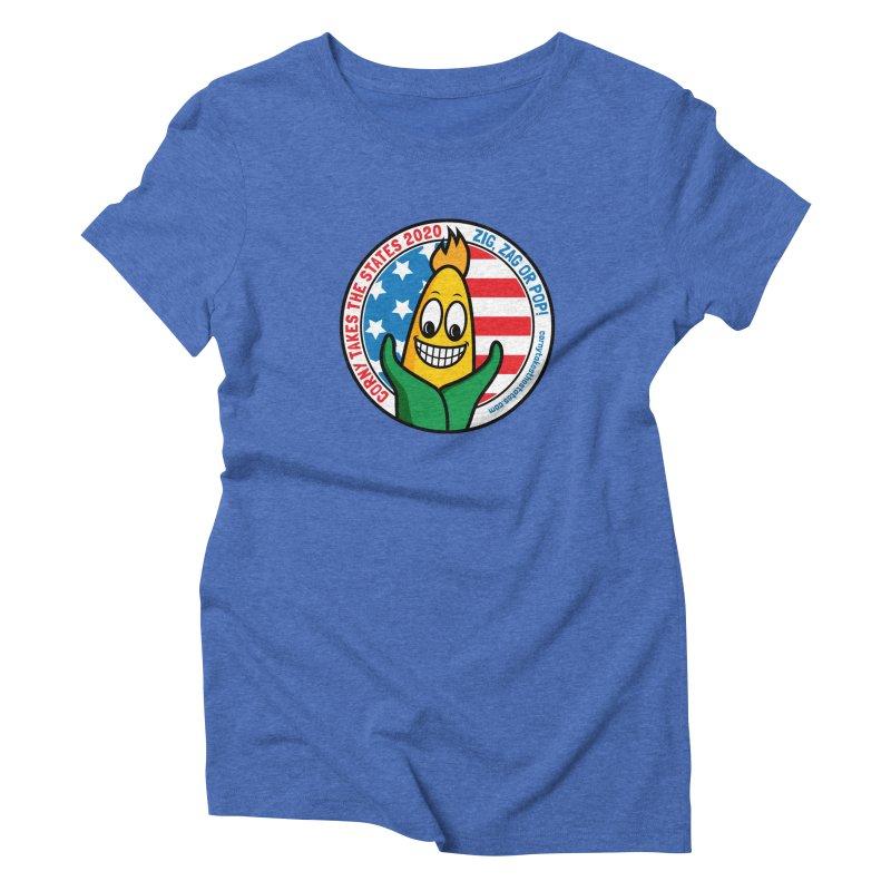 Corny Takes the States 2020 - Circle Women's Triblend T-Shirt by TwistyMini Motoring Shirts