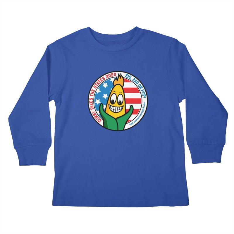 Corny Takes the States 2020 - Circle Kids Longsleeve T-Shirt by TwistyMini Motoring Shirts