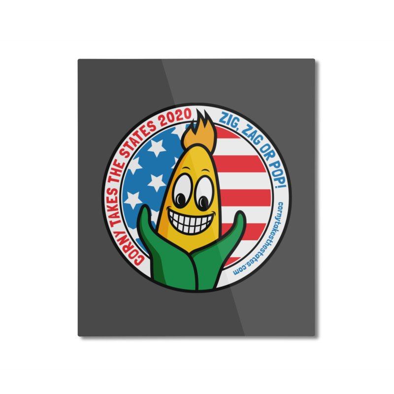Corny Takes the States 2020 - Circle Home Mounted Aluminum Print by TwistyMini Motoring Shirts