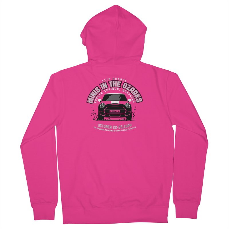 MINIS in the Ozarks 2020 - Classic Men's French Terry Zip-Up Hoody by TwistyMini Motoring Shirts
