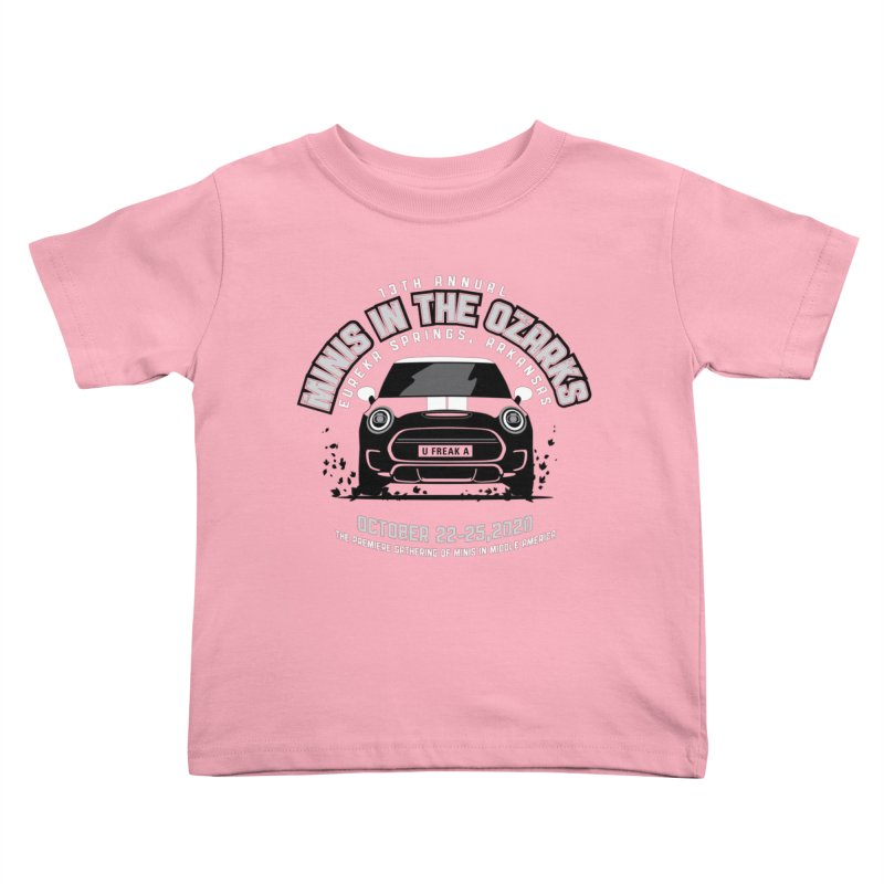 MINIS in the Ozarks 2020 - Classic Kids Toddler T-Shirt by TwistyMini Motoring Shirts