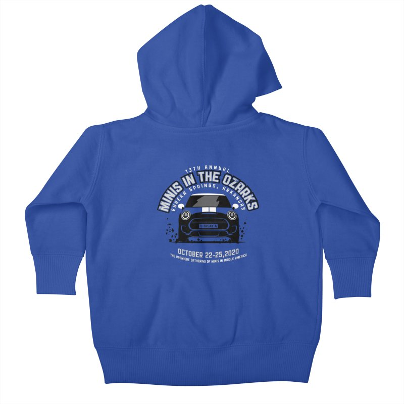 MINIS in the Ozarks 2020 - Classic Kids Baby Zip-Up Hoody by TwistyMini Motoring Shirts