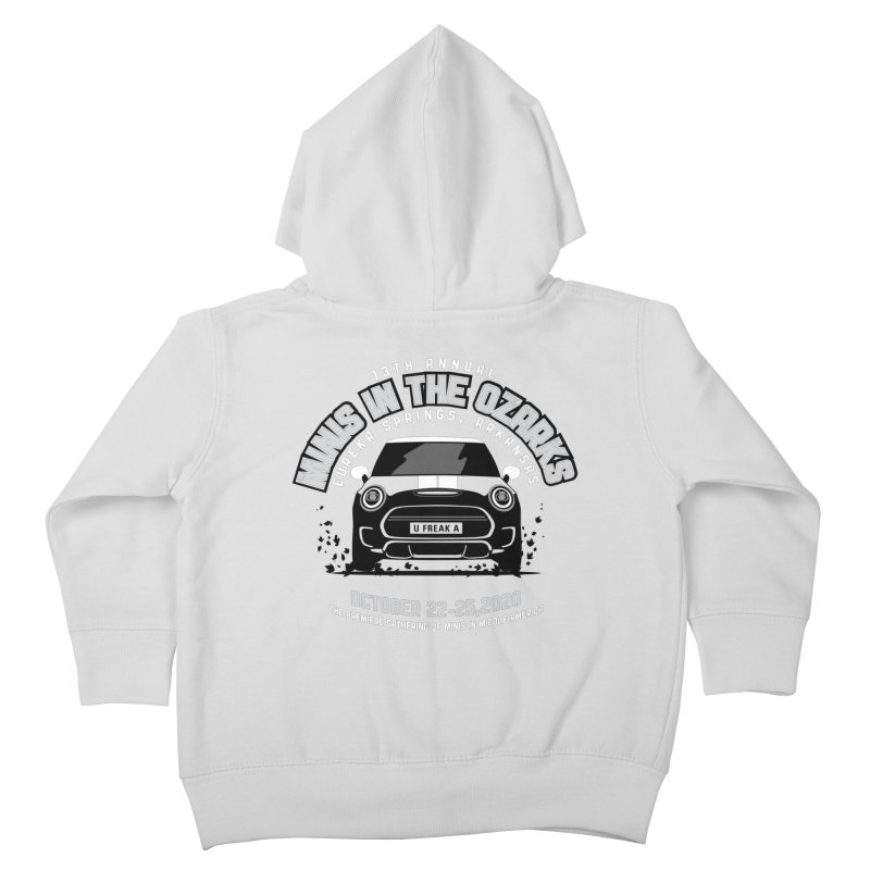 MINIS in the Ozarks 2020 - Classic Kids Toddler Zip-Up Hoody by TwistyMini Motoring Shirts