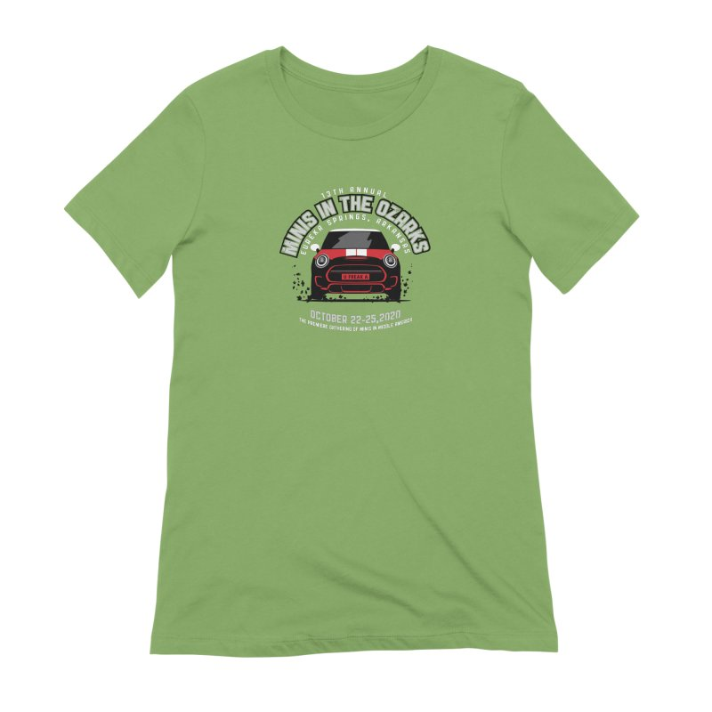 MINIS in the Ozarks 2020 - Classic - Red Car Women's Extra Soft T-Shirt by TwistyMini Motoring Shirts