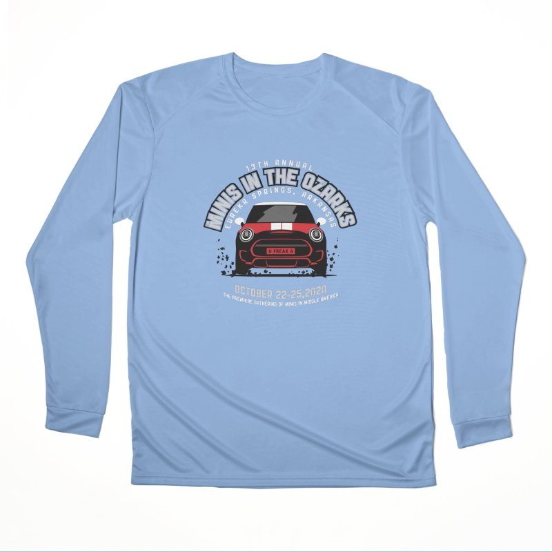 MINIS in the Ozarks 2020 - Classic - Red Car Men's Performance Longsleeve T-Shirt by TwistyMini Motoring Shirts
