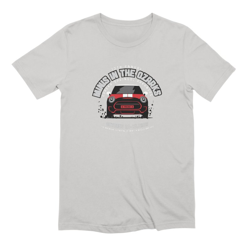 MINIS in the Ozarks 2020 - Classic - Red Car Men's Extra Soft T-Shirt by TwistyMini Motoring Shirts