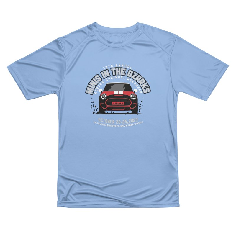 MINIS in the Ozarks 2020 - Classic - Red Car Women's Performance Unisex T-Shirt by TwistyMini Motoring Shirts