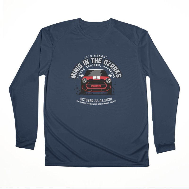 MINIS in the Ozarks 2020 - Classic - Red Car Women's Performance Unisex Longsleeve T-Shirt by TwistyMini Motoring Shirts