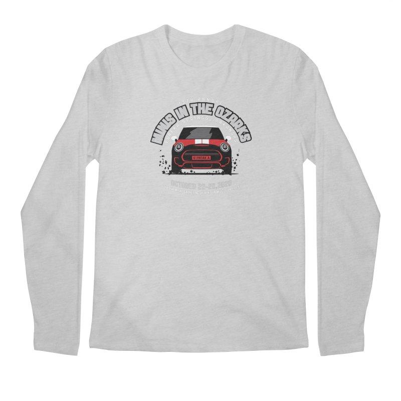 MINIS in the Ozarks 2020 - Classic - Red Car Men's Regular Longsleeve T-Shirt by TwistyMini Motoring Shirts