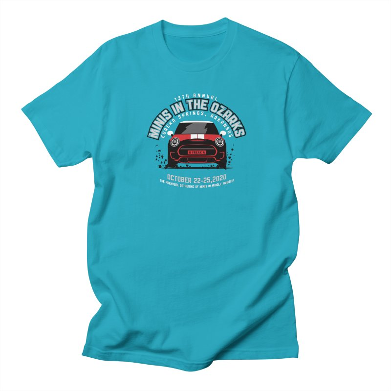 MINIS in the Ozarks 2020 - Classic - Red Car Men's Regular T-Shirt by TwistyMini Motoring Shirts