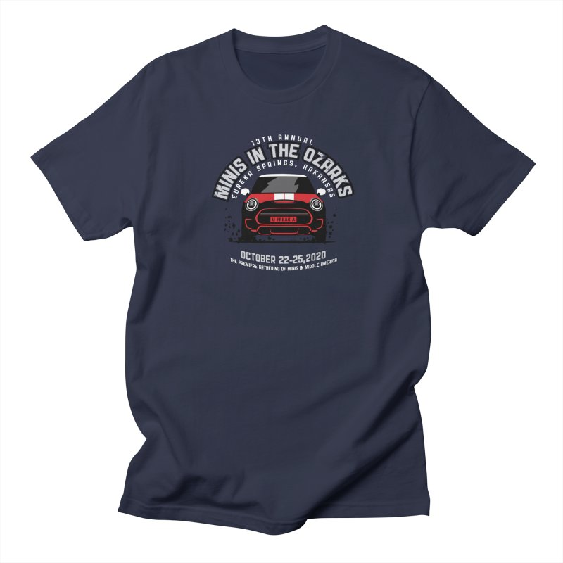 MINIS in the Ozarks 2020 - Classic - Red Car Women's Regular Unisex T-Shirt by TwistyMini Motoring Shirts