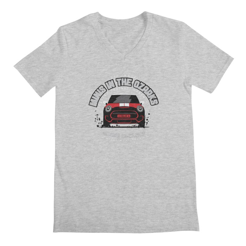 MINIS in the Ozarks 2020 - Classic - Red Car Men's Regular V-Neck by TwistyMini Motoring Shirts