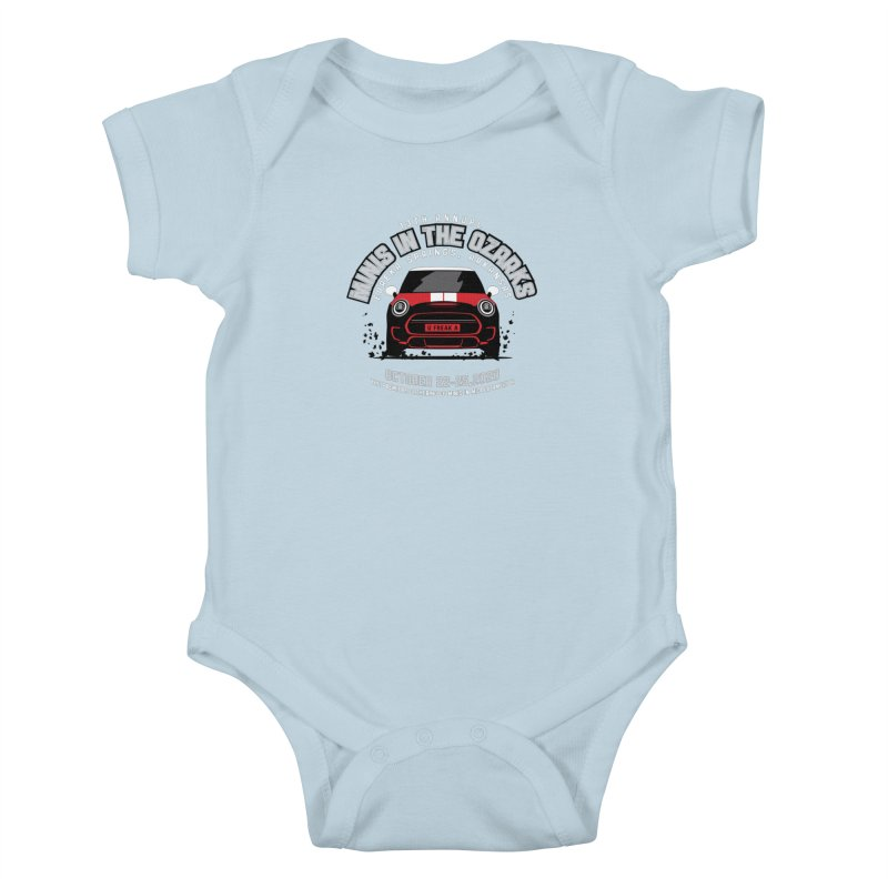 MINIS in the Ozarks 2020 - Classic - Red Car Kids Baby Bodysuit by TwistyMini Motoring Shirts