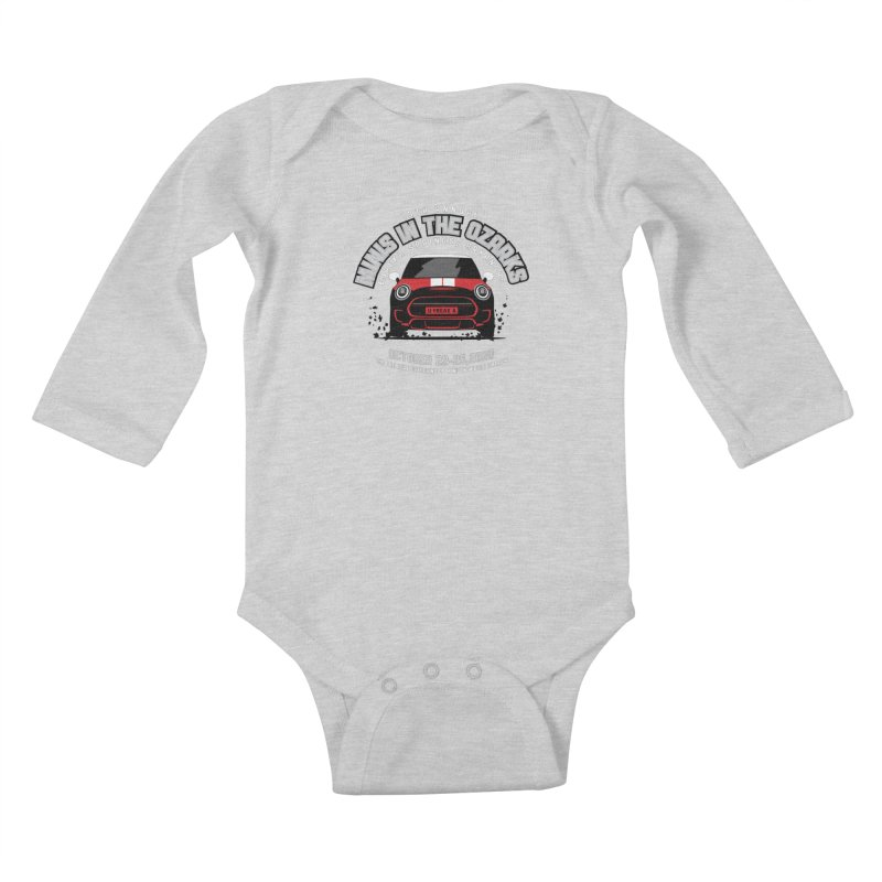 MINIS in the Ozarks 2020 - Classic - Red Car Kids Baby Longsleeve Bodysuit by TwistyMini Motoring Shirts
