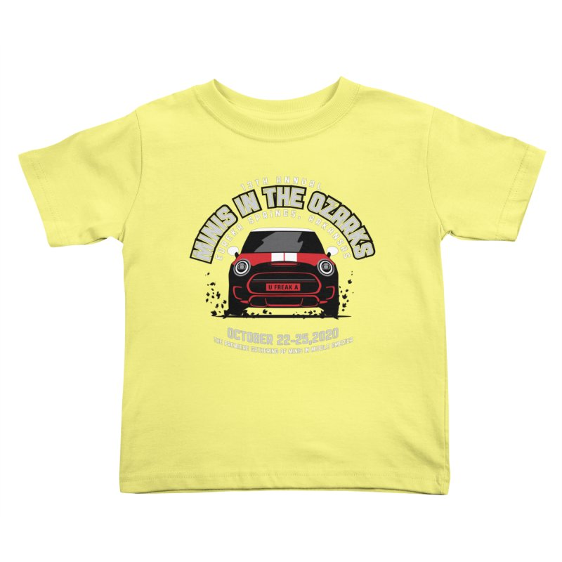 MINIS in the Ozarks 2020 - Classic - Red Car Kids Toddler T-Shirt by TwistyMini Motoring Shirts