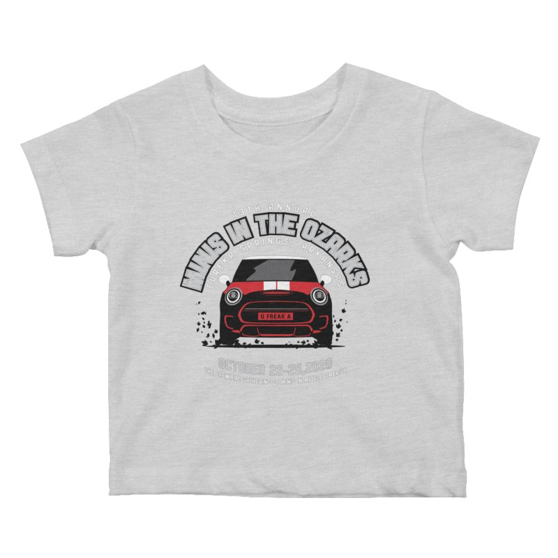 MINIS in the Ozarks 2020 - Classic - Red Car Kids Baby T-Shirt by TwistyMini Motoring Shirts