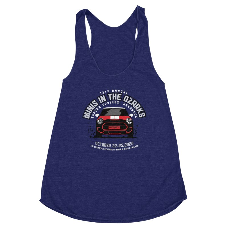 MINIS in the Ozarks 2020 - Classic - Red Car Women's Racerback Triblend Tank by TwistyMini Motoring Shirts