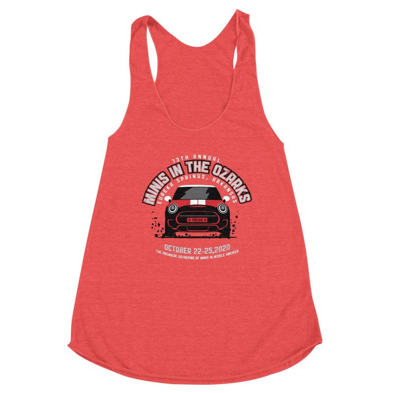 MINIS in the Ozarks 2020 - Classic - Red Car Women's Tank by TwistyMini Motoring Shirts