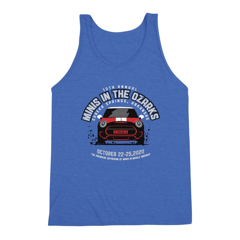 MINIS in the Ozarks 2020 - Classic - Red Car Men's Triblend Tank by TwistyMini Motoring Shirts