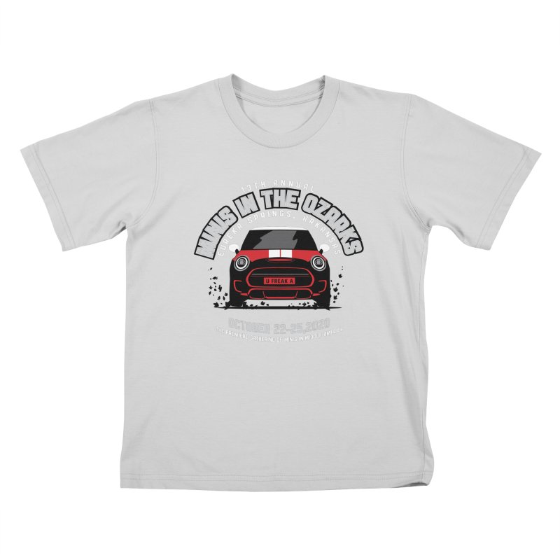 MINIS in the Ozarks 2020 - Classic - Red Car Kids T-Shirt by TwistyMini Motoring Shirts