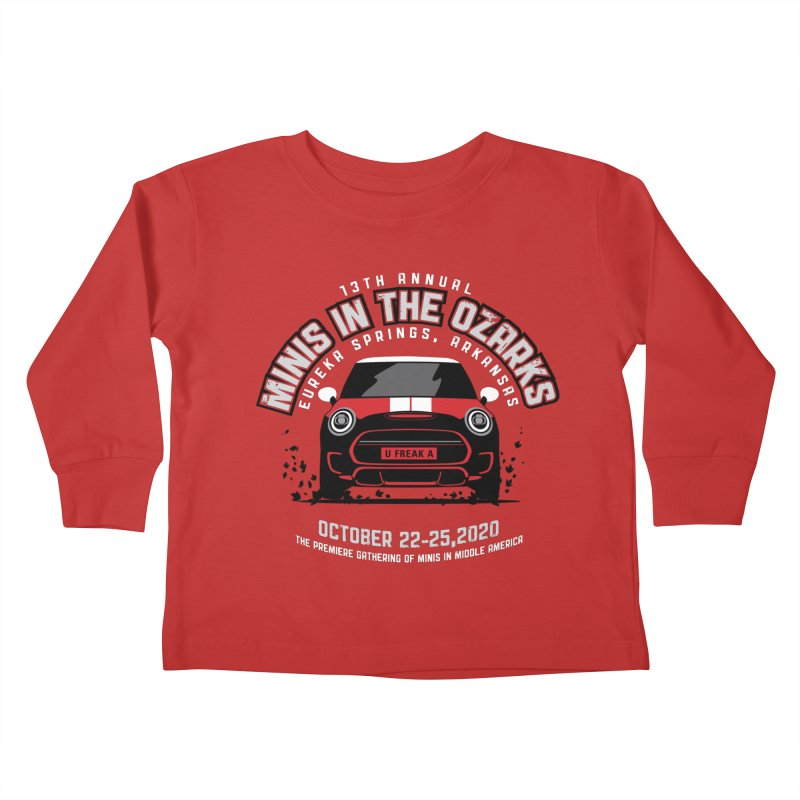 MINIS in the Ozarks 2020 - Classic - Red Car Kids Toddler Longsleeve T-Shirt by TwistyMini Motoring Shirts