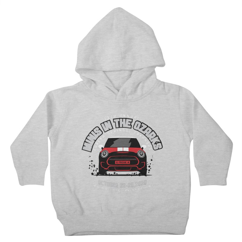 MINIS in the Ozarks 2020 - Classic - Red Car Kids Toddler Pullover Hoody by TwistyMini Motoring Shirts