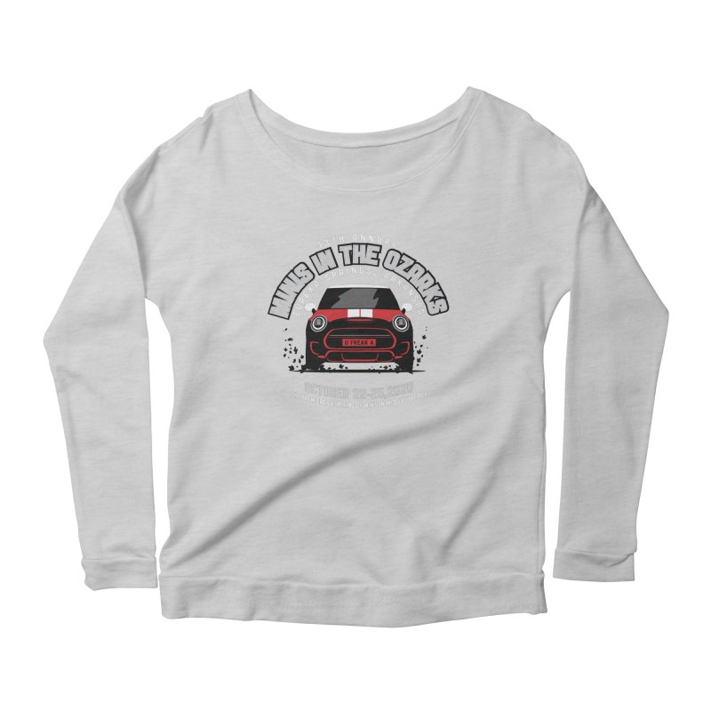 MINIS in the Ozarks 2020 - Classic - Red Car Women's Scoop Neck Longsleeve T-Shirt by TwistyMini Motoring Shirts