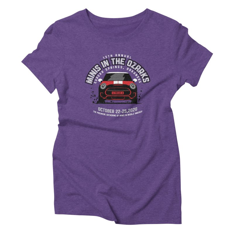 MINIS in the Ozarks 2020 - Classic - Red Car Women's Triblend T-Shirt by TwistyMini Motoring Shirts