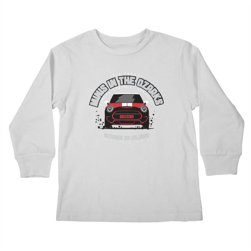 MINIS in the Ozarks 2020 - Classic - Red Car Kids Longsleeve T-Shirt by TwistyMini Motoring Shirts
