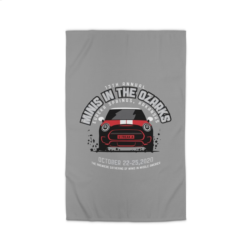 MINIS in the Ozarks 2020 - Classic - Red Car Home Rug by TwistyMini Motoring Shirts