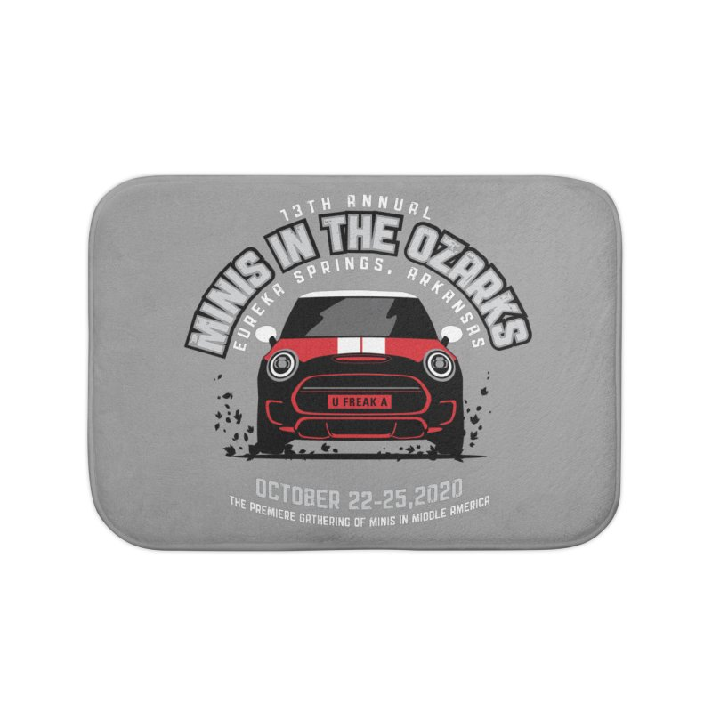 MINIS in the Ozarks 2020 - Classic - Red Car Home Bath Mat by TwistyMini Motoring Shirts