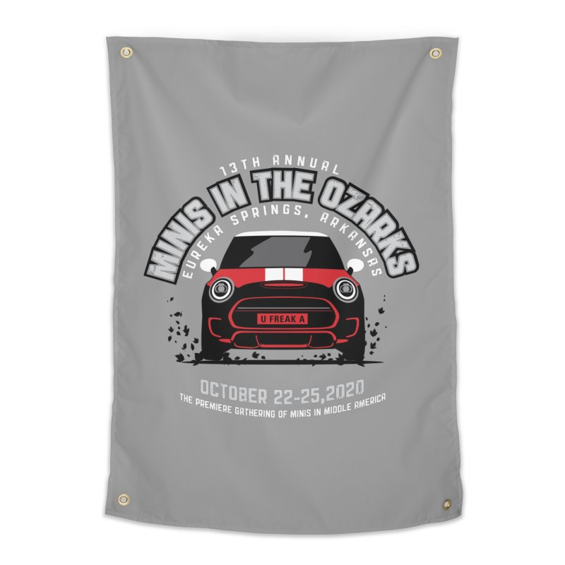 MINIS in the Ozarks 2020 - Classic - Red Car Home Tapestry by TwistyMini Motoring Shirts