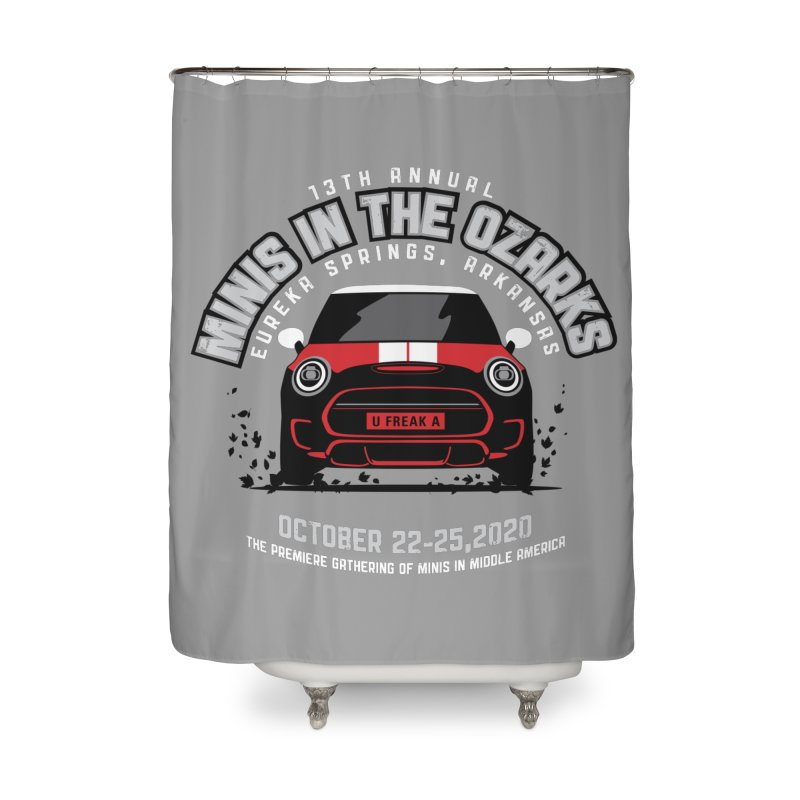 MINIS in the Ozarks 2020 - Classic - Red Car Home Shower Curtain by TwistyMini Motoring Shirts