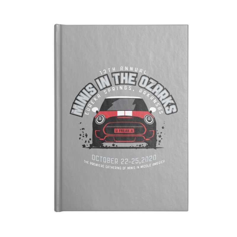 MINIS in the Ozarks 2020 - Classic - Red Car Accessories Lined Journal Notebook by TwistyMini Motoring Shirts