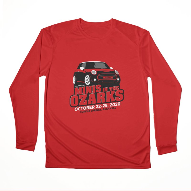 MINIS in the Ozarks 2020 Men's Performance Longsleeve T-Shirt by TwistyMini Motoring Shirts