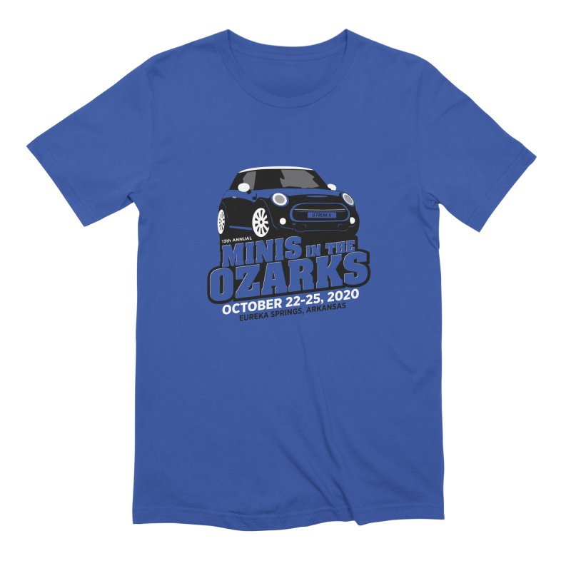 MINIS in the Ozarks 2020 Men's Extra Soft T-Shirt by TwistyMini Motoring Shirts