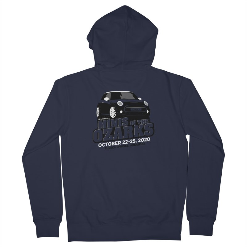 MINIS in the Ozarks 2020 Men's French Terry Zip-Up Hoody by TwistyMini Motoring Shirts