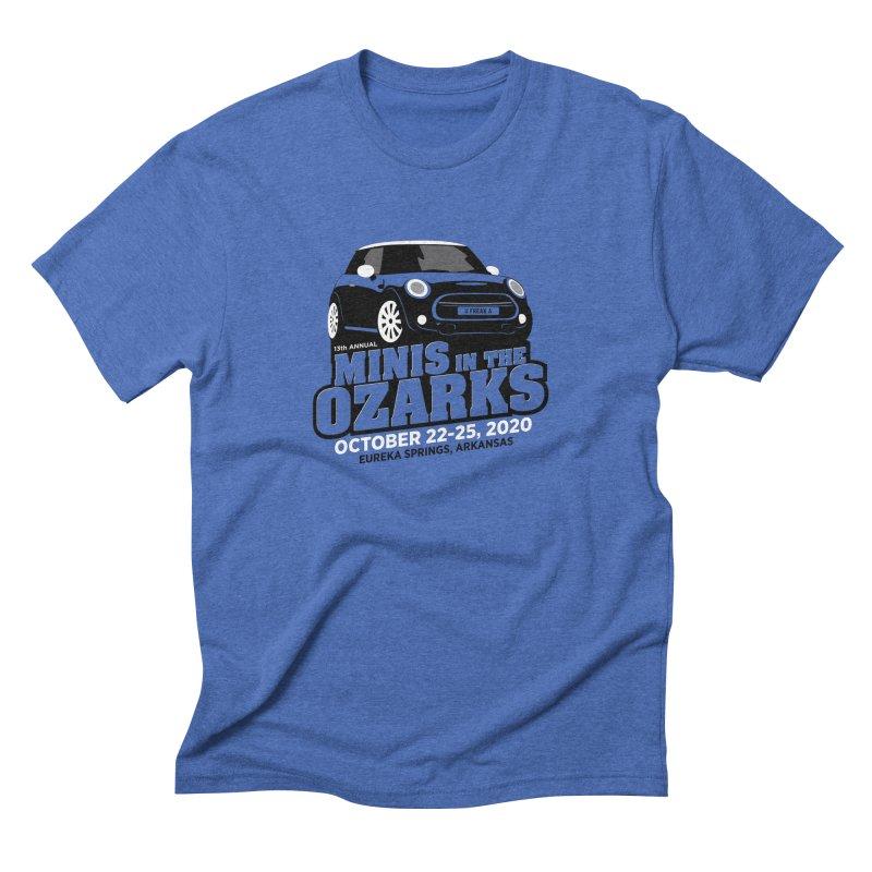 MINIS in the Ozarks 2020 Men's Triblend T-Shirt by TwistyMini Motoring Shirts