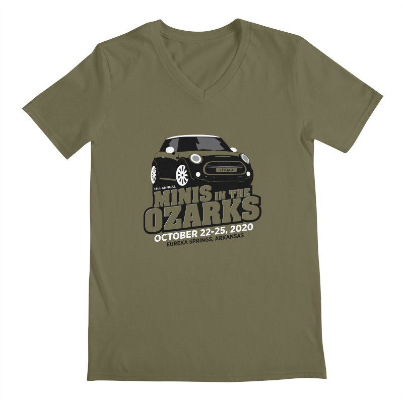MINIS in the Ozarks 2020 Men's Regular V-Neck by TwistyMini Motoring Shirts
