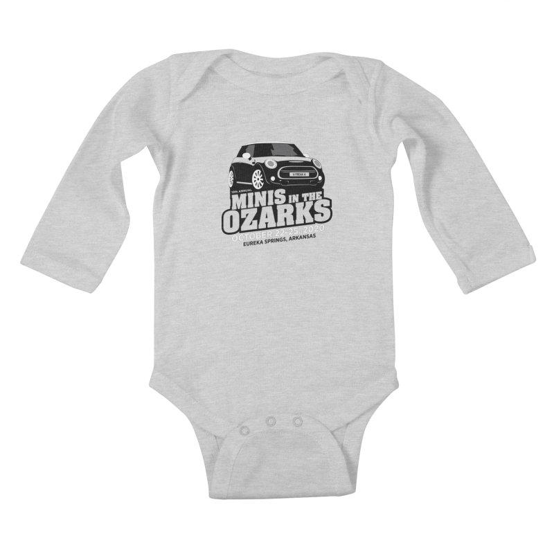 MINIS in the Ozarks 2020 Kids Baby Longsleeve Bodysuit by TwistyMini Motoring Shirts