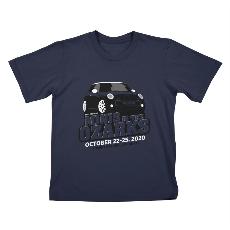 MINIS in the Ozarks 2020 Kids T-Shirt by TwistyMini Motoring Shirts