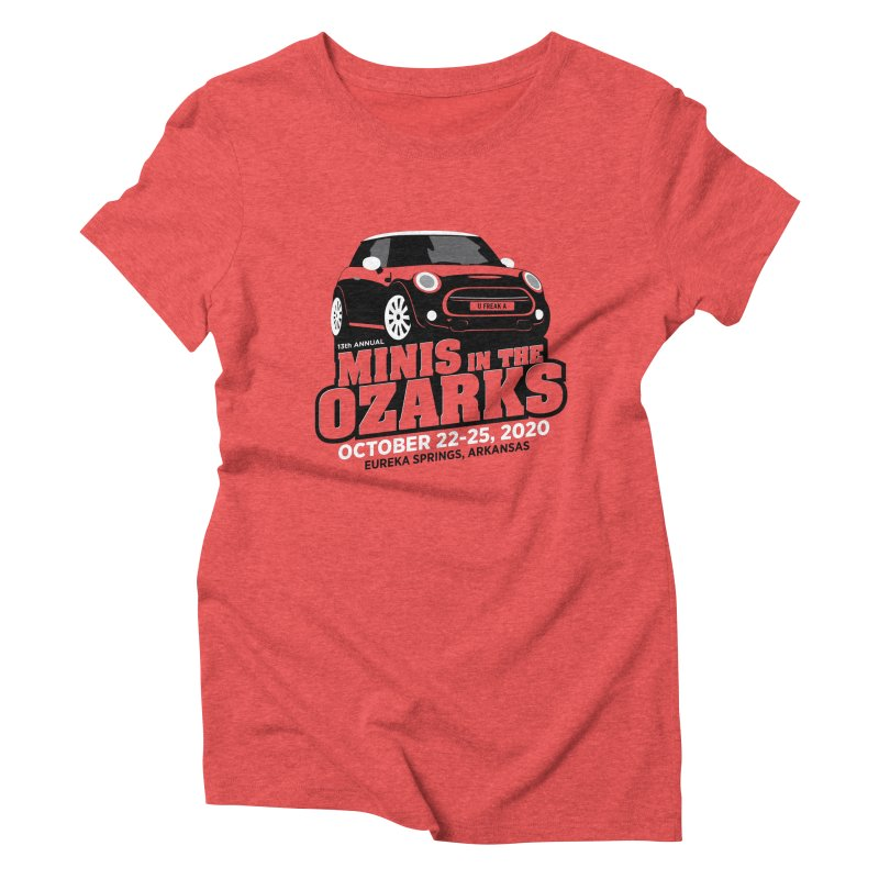 MINIS in the Ozarks 2020 Women's Triblend T-Shirt by TwistyMini Motoring Shirts