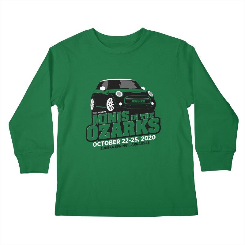 MINIS in the Ozarks 2020 Kids Longsleeve T-Shirt by TwistyMini Motoring Shirts