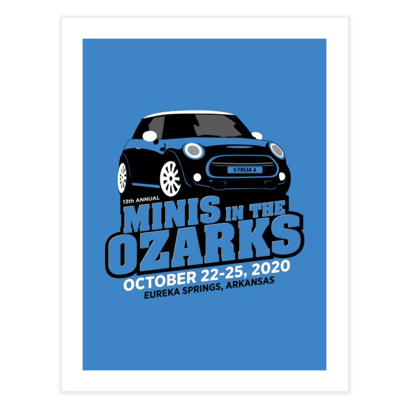 MINIS in the Ozarks 2020 Home Fine Art Print by TwistyMini Motoring Shirts