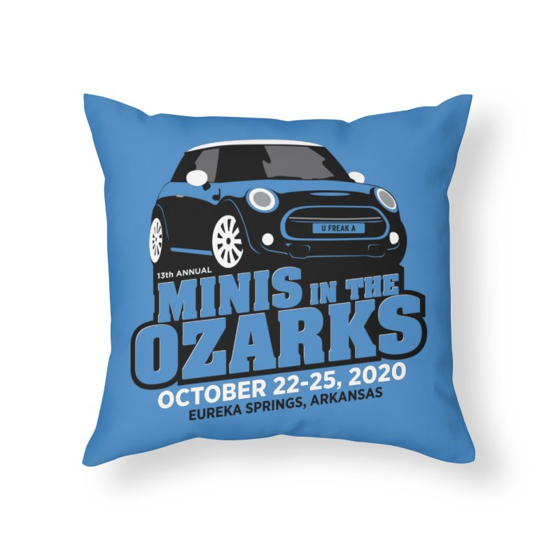 MINIS in the Ozarks 2020 Home Throw Pillow by TwistyMini Motoring Shirts